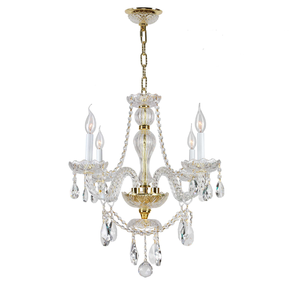 Provence collection 4 light gold finish with amber crystal provence collection 4 light gold finish with amber crystal chandelier aloadofball Gallery