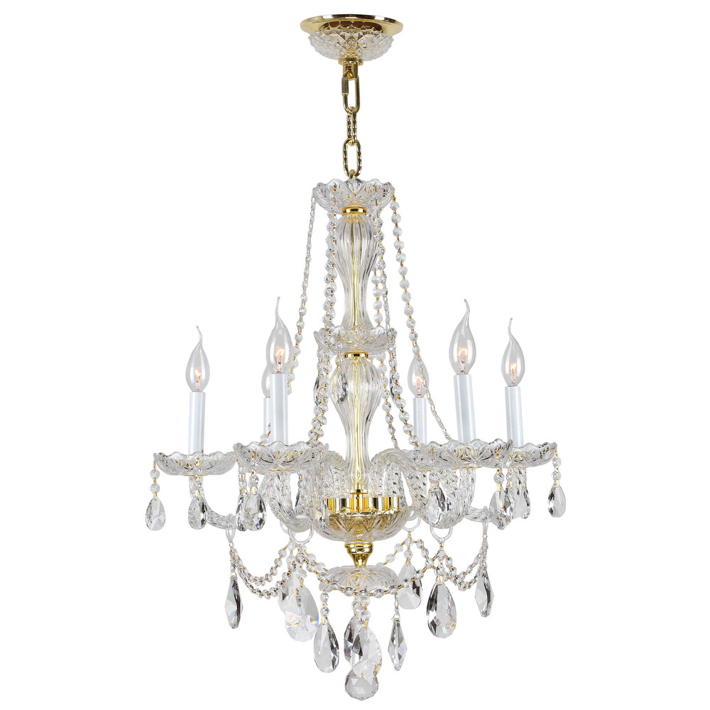Provence collection 6 light gold finish with white crystal provence collection 6 light gold finish with white crystal chandelier aloadofball Image collections
